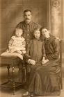 Pte George Smith was Sandra Fairhall's G Dad. Sandra's mother is pictured standing in the center.